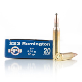 Image For 20 Rounds Of 55 Grain SP Boxer Brass 223 Rem Prvi Partizan Ammunition