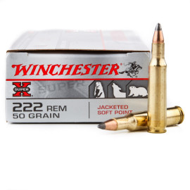 Image For 20 Rounds Of 50 Grain JSP Boxer Brass 222 Rem Winchester Ammunition