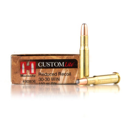 Image For 20 Rounds Of 150 Grain Round Nose Soft Point (RNSP) Boxer Brass 30-30 Hornady Ammunition