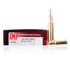 Image For 20 Rounds Of 185 Grain GMX Boxer Brass 338 Win Mag Hornady Ammunition