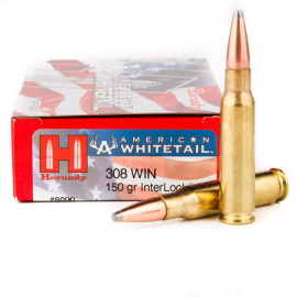Image For 20 Rounds Of 150 Grain SP Boxer Brass 308 Win Hornady Ammunition
