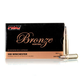 Image For 20 Rounds Of 150 Grain PSP Boxer Brass 308 Win PMC Ammunition