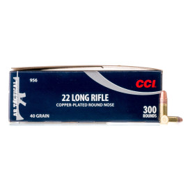 Image For 3000 Rounds Of 40 Grain Copper Plated Round Nose Rimfire Brass 22 LR CCI Ammunition
