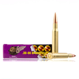 Image For 20 Rounds Of 145 Grain FMJ Berdan Brass Plated Steel 30-06 Golden Bear Ammunition