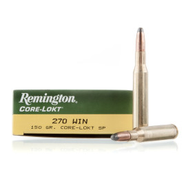 Image For 20 Rounds Of 150 Grain SP Boxer Brass 270 Win Remington Ammunition