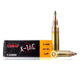 Image For 20 Rounds Of 62 Grain FMJ Boxer Brass 5.56x45 PMC Ammunition
