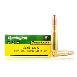 Image For 20 Rounds Of 180 Grain SP Boxer Brass 308 Win Remington Ammunition