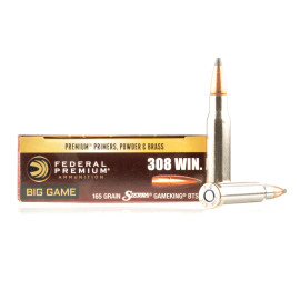 Image For 20 Rounds Of 165 Grain SPBT Boxer Nickel-Plated Brass 308 Win Federal Ammunition