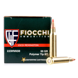 Image For 1000 Rounds Of 50 Grain V-MAX Boxer Brass 223 Rem Fiocchi Ammunition