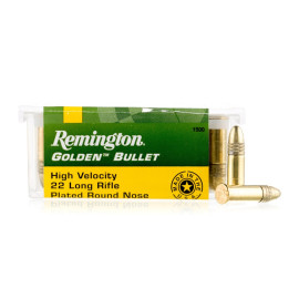 Image For 100 Rounds Of 40 Grain CPRN Rimfire Brass 22 LR Remington Ammunition