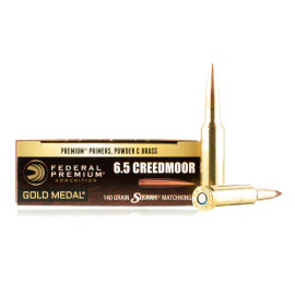 Image For 20 Rounds Of 140 Grain HPBT Boxer Brass 6.5 Creedmoor Federal Ammunition