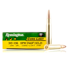 Image For 20 Rounds Of 180 Grain PSP Boxer Brass 30-06 Remington Ammunition
