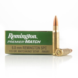 Image For 20 Rounds Of 115 Grain HPBT Boxer Brass 6.8 SPC Remington Ammunition