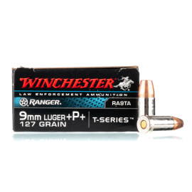 Image For 50 Rounds Of 127 Grain JHP Boxer Nickel-Plated Brass 9mm Winchester Ammunition