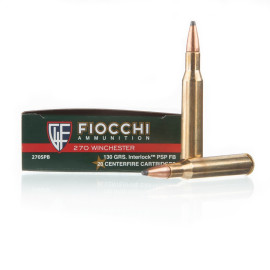 Image For 20 Rounds Of 130 Grain PSP Boxer Brass 270 Win Fiocchi Ammunition