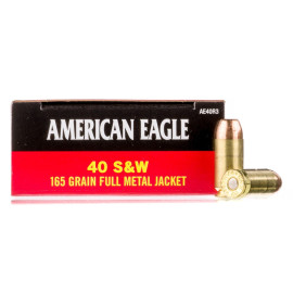 Image For 50 Rounds Of 165 Grain FMJ Boxer Brass 40 Cal Federal Ammunition