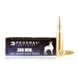 Image For 200 Rounds Of 180 Grain SP Boxer Brass 308 Win Federal Ammunition