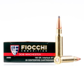 Image For 20 Rounds Of 165 Grain SPBT Boxer Brass 308 Win Fiocchi Ammunition