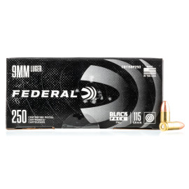 Image For 250 Rounds Of 115 Grain FMJ Boxer Brass 9mm Federal Ammunition