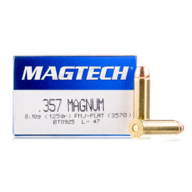 Image For 50 Rounds Of 125 Grain FMJ Boxer Brass 357 Magnum Magtech Ammunition