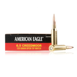 Image For 20 Rounds Of 120 Grain OTM Boxer Brass 6.5 Creedmoor Federal Ammunition