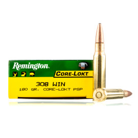 Image For 200 Rounds Of 180 Grain PSP Boxer Brass 308 Win Remington Ammunition