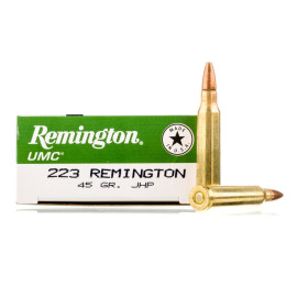 Image For 20 Rounds Of 45 Grain JHP Boxer Brass 223 Rem Remington Ammunition