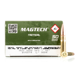Image For 50 Rounds Of 200 Grain FMJ Boxer Brass 300 Blackout Magtech Ammunition