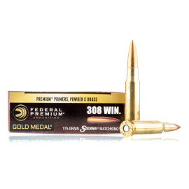 Image For 200 Rounds Of 175 Grain HPBT Boxer Brass 308 Win Federal Ammunition