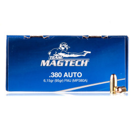Image For 250 Rounds Of 95 Grain FMJ Boxer Brass 380 ACP Magtech Ammunition