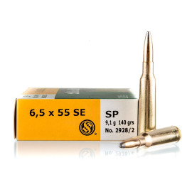 Image For 20 Rounds Of 140 Grain SJSP Boxer Brass 6.5x55mm Sellier and Bellot Ammunition