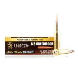Image For 200 Rounds Of 130 Grain OTM Boxer Brass 6.5 Creedmoor Federal Ammunition