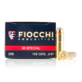 Image For 1000 Rounds Of 158 Grain JHP Boxer Brass 38 Special Fiocchi Ammunition