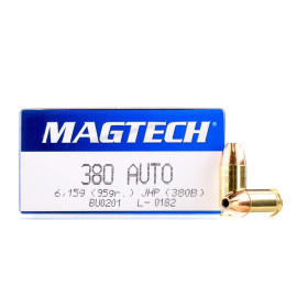 Image For 50 Rounds Of 95 Grain JHP Boxer Brass 380 ACP Magtech Ammunition