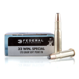 Image For 20 Rounds Of 170 Grain SP Boxer Brass 32 Win Special Federal Ammunition