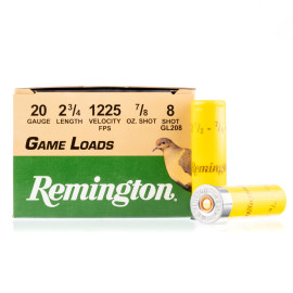 Image For 25 Rounds Of 7/8 oz. #8 Shot 20 Gauge Remington Ammunition
