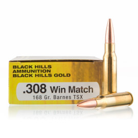 Image For 20 Rounds Of 168 Grain TSX Boxer Brass 308 Win Black Hills Ammunition Ammunition