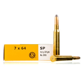 Image For 20 Rounds Of 139 Grain SP Boxer Brass 7x64mm Sellier and Bellot Ammunition