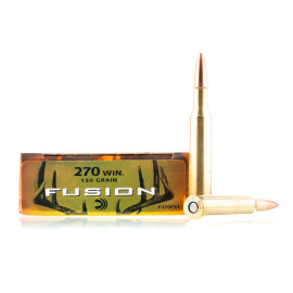 Image For 20 Rounds Of 130 Grain Fusion Boxer Brass 270 Win Federal Ammunition