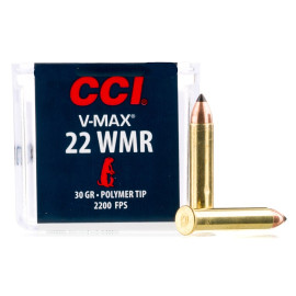 Image For 50 Rounds Of 30 Grain Polymer Tipped Rimfire Brass 22 WMR CCI Ammunition