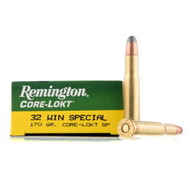 Image For 20 Rounds Of 170 Grain SP Boxer Brass 32 Win Special Remington Ammunition