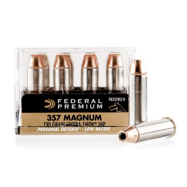 Image For 20 Rounds Of 130 Grain JHP Boxer Nickel-Plated Brass 357 Magnum Federal Ammunition