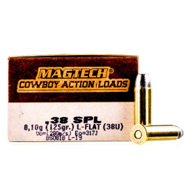 Image For 50 Rounds Of 125 Grain LFN Boxer Brass 38 Special Magtech Ammunition