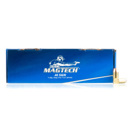 Image For 250 Rounds Of 180 Grain FMJ Boxer Brass 40 Cal Magtech Ammunition