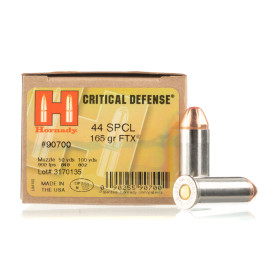 Image For 20 Rounds Of 165 Grain FTX Boxer Nickel-Plated Brass 44 S&W Special Hornady Ammunition