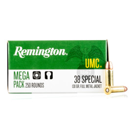 Image For 1000 Rounds Of 130 Grain MC Boxer Brass 38 Special Remington Ammunition