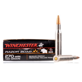 Image For 20 Rounds Of 130 Grain HP Boxer Nickel-Plated Brass 270 Win Winchester Ammunition