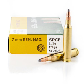 Image For 20 Rounds Of 173 Grain SPCE Boxer Brass 7mm Rem Magnum Sellier and Bellot Ammunition