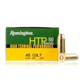 Image For 50 Rounds Of 230 Grain JHP Boxer Brass 45 Long Colt Remington Ammunition