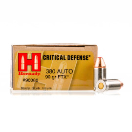 Image For 250 Rounds Of 90 Grain JHP Boxer Nickel-Plated Brass 380 ACP Hornady Ammunition